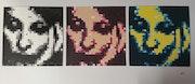 Pixel Art en peinture. Faryal Choudry