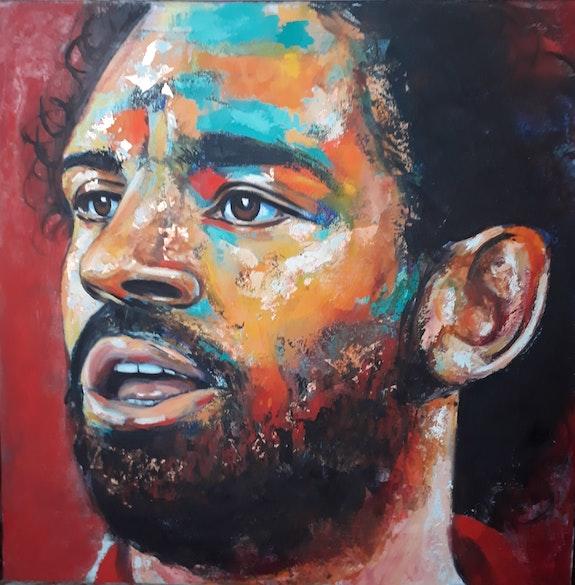 Mo Salah by Naydene Gonnella. Naydene Gonnella Art At The Ridge (Antigua & Barbuda)