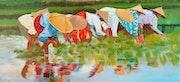 Les repiqueuses de riz. Atelier Chartres De Bretagne