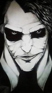 Joker au fusain.