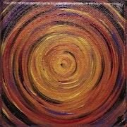 Pintura contemporánea: Pequeño remolino brillante..
