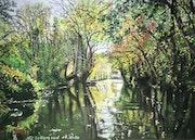 Le marais Poitevin en automne.