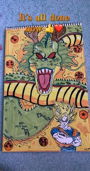 Goku and Shenron.