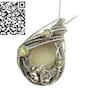 Libyan Desert Glass Wire-Wrapped Pendant with Ethiopian Welo Opals. Heather Jordan Jewelry