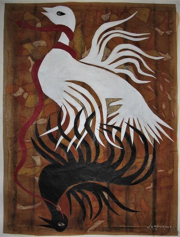 La colombe et le serpent (ou quand un serpent étouffe la liberté). Bertrand Lamouroux Bertrand Lamouroux