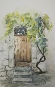 Vieille porte. M Françoise Ellena