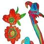 Tropical Parrot. Arte Isaac Rabin