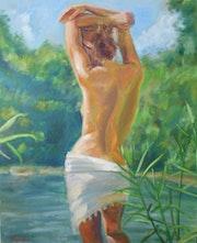 Desnudo en el paraíso / Naked woman in paradise.