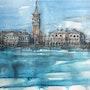 Venise-vue depuis la lagune. Emilian Alexianu