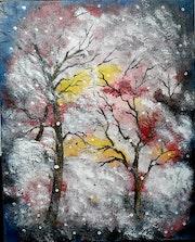 Forêt enneigée.