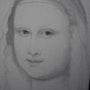 Mon crayon est à la recherche du sourire mystérieux de Jaconda Leonardo da Vinci. Baloban Nadège