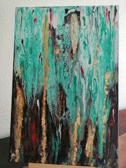 Coulée de peinture. Sylviane Rolland