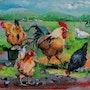 «Le coq et ses poules». Pascale Stephan