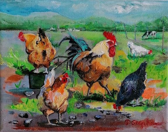 «Le coq et ses poules». Pascale Stephan Pascale Stephan