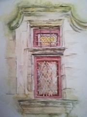 Uzes : Fenêtre vieille maison. M Françoise Ellena