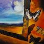 Peinture paysage au papillon, par joky kamo. Joky Kamo