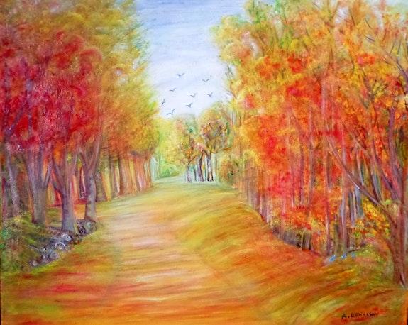 La forêt en automne. Angéline Seren Lienasson Angéline Seren Lienasson