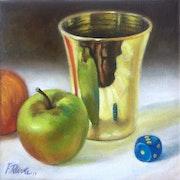 Gobelet et Pomme. Frédéric Reverte