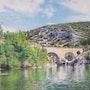 Le Pont du Diable à St-Guilhem-le-Désert dans l'Hérault.
