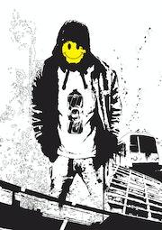 Smiley graff. Jérôme Jacob