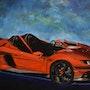 Lamborghini aventador peinture, signée joky kamo. Joky Kamo