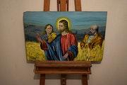 Jésus dans le champs, par joky kamo.
