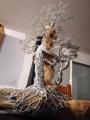 Bonsaï sur bois et flotté. Michel De Salengre