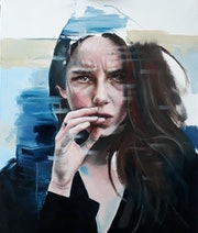 Heartbreak Hotel - Room 1 (oil on canvas). Simona Zecca