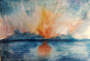 Atardecer en el mar. Ana Dorcu