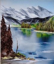 Petit lac de montagne. Suzanne Monnot
