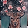 Blooming deer. Artpit