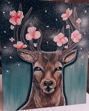 Blooming deer.
