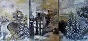 Winter trio, 3 panel landscape. Irmaeva