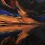 Coucher de soleil en reflet de nuages et soleil,. Joky Kamo