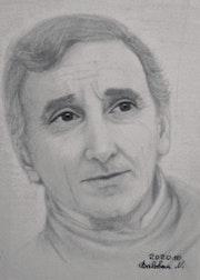 Portrait Charles Aznavour. Baloban Nadège