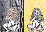 Israeli art painter artist modern paintings and drawings.