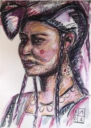 Dessin «Femmes du Monde» - Portrait n°2.