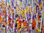 Birch Grove. Last Dance of Autumn. Ruslan Khais