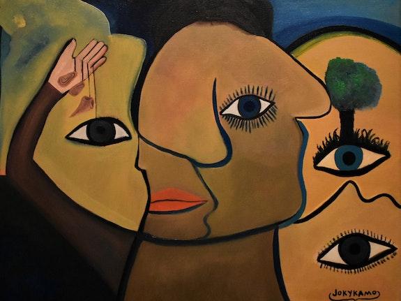 Peinture abstraite de expression,. Joky Kamo Joky Kamo