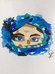 Azul brillante. Ariana Meza