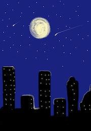 La lune. Amani Zouaoui