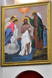 Baptême de jésus peinture.