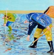 Pêcheurs à pied.