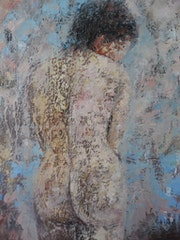 Femme brune nue. Alain Cojan