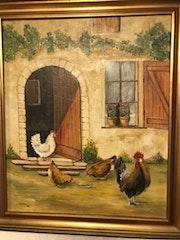 Poules et coq.