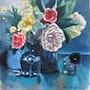 Gerbe de fleurs. Edgard Atlan