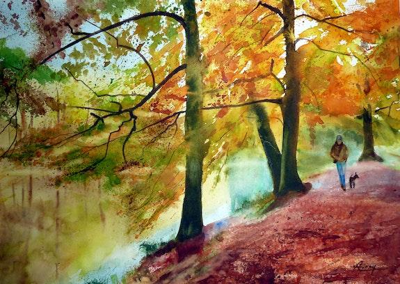Promenade autour du lac. Adyne Gohy