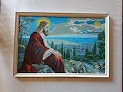 Jésus dans le jardin des oliviers peinture.
