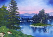 Bob ross-Island in the wilderness.