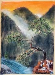 L'arbre et la brume.